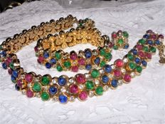 Christian Dior - Set from the 1980s - necklace, bracelet, clip-on earrings