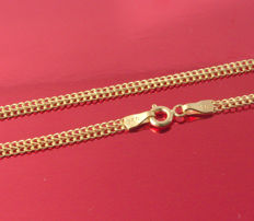 18k Yellow Gold Necklace - Viana-  55 cm - 3.73 gr /// No reserve price///