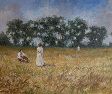Chris van Dijk  (1952)  -  Having a rest in the field