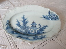 White & blue dish, China, second half of the 18th century