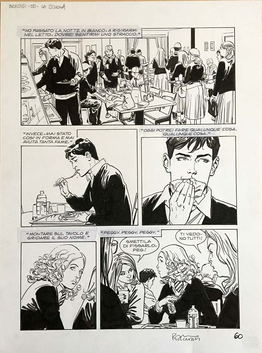 Dylan Dog - Bruno Brindisi - original page - Loose page - First edition