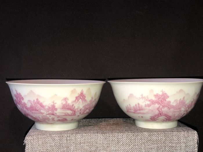 Two famille rose bowls - China - ca 1970-1990