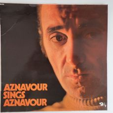 Charles Aznavour, Plastic Bertrand, Yves Duteil, Barbara, Julien Clerc and others. Lot of fifteen Great albums with French chansons.