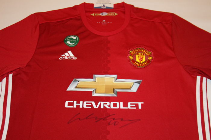 95924a22608 Wayne Rooney 10 Hand Signed MUFC Manchester United adidas Red Soccer Jersey  Autographed with BAS Beckett