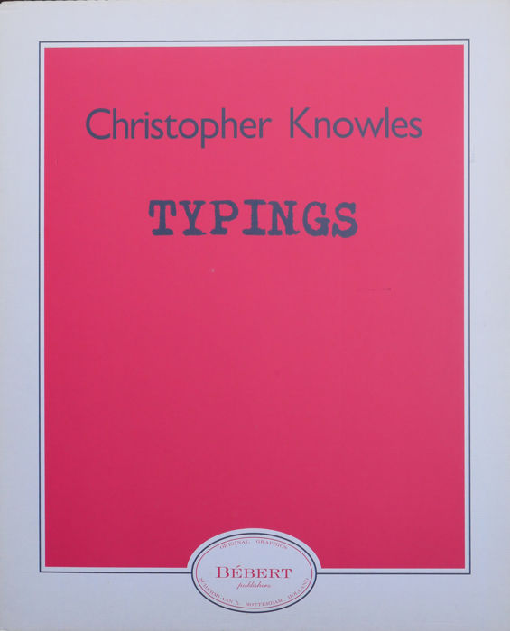 Christopher Knowles - lot van drie items - Typings