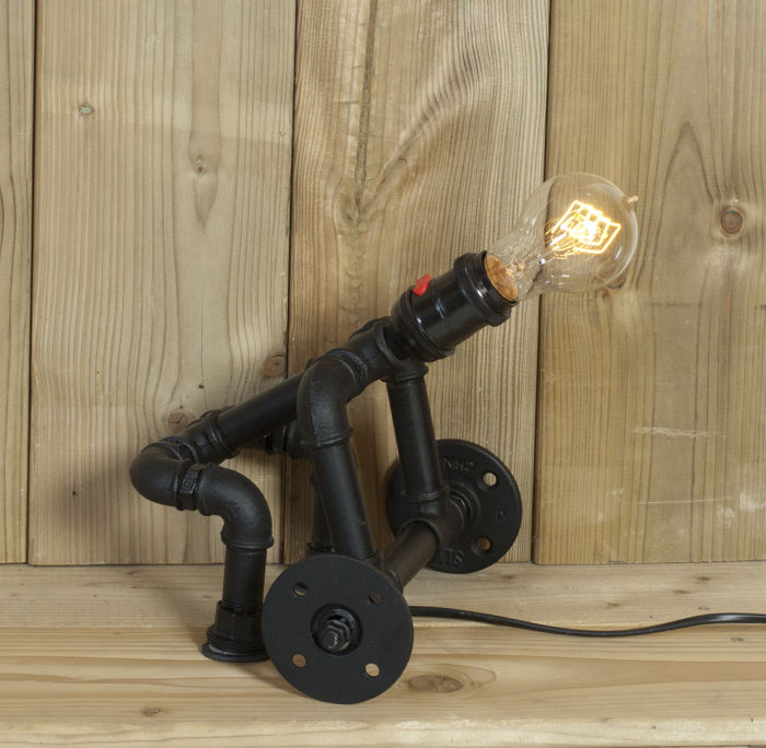 steampunk lamp weightlifter industrieel - weightlifter - 铁(铸/锻)