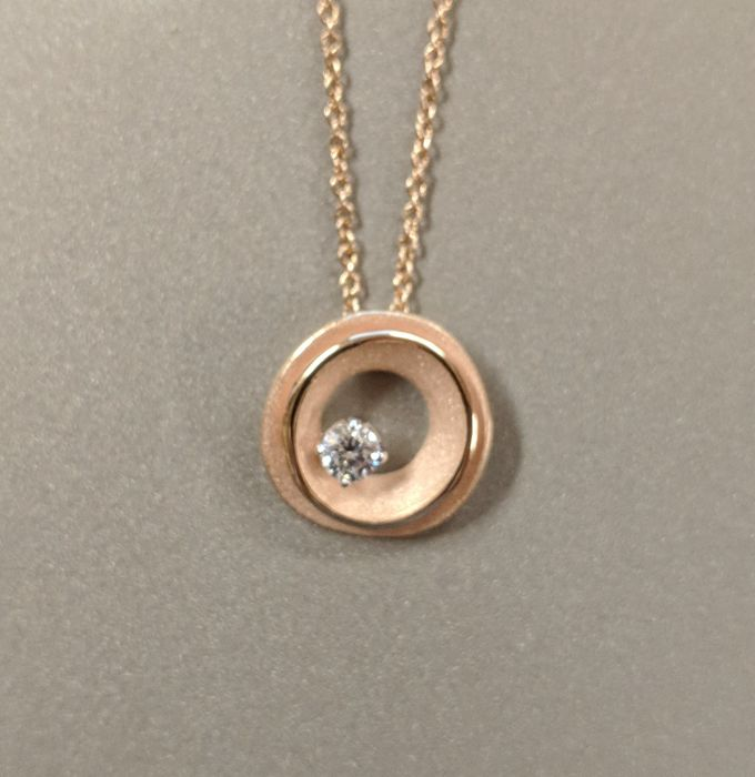Annamaria Cammilli - Necklace and pendant in 750/1000 rose gold with diamond Reference GPE2427K