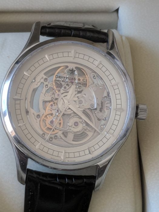 Dreyfuss & Co. -Stainless Steel   - SPECIAL EDITION HAND MADE SKELETON  - Men - 2011-present