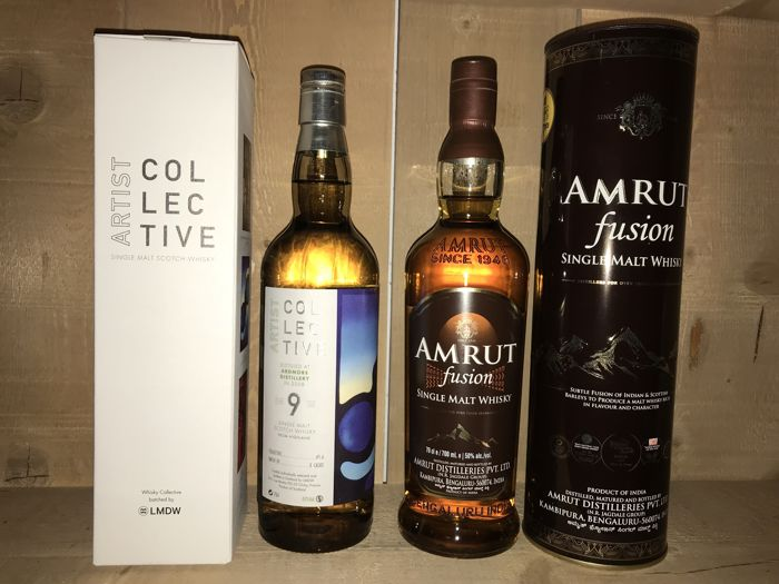 Ardmore 2008 9 years old artist Collective LMDW & Amrut Fusion - 0.7 Ltr - 2 bottles