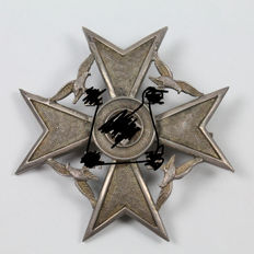 Cross of Spain in Silver, with Certificate of Authenticity and Guarantee.