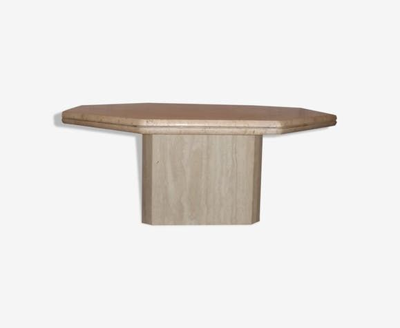Roche Bobois   Travertine Coffee Table