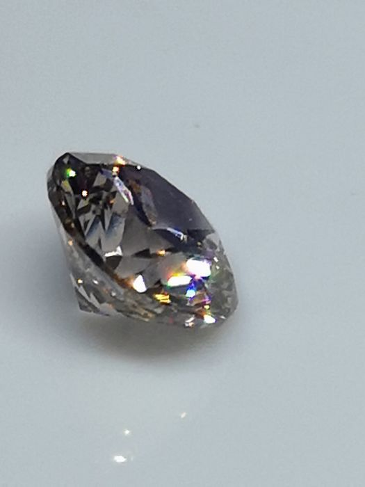 1.52 ct - Round Brilliant - Natural Fancy Brown - VVS2