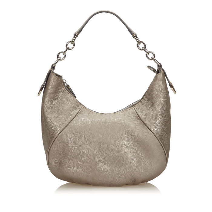 Fendi - Selleria Leather Chain Hobo Bag
