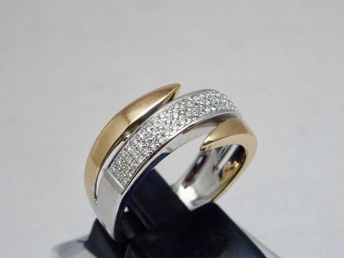 18 carats Or - Bague - 0.75 ct Diamant