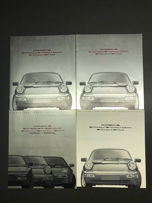 Brochures / Catalogi - Porsche 964 C2 Turbo Prospekt / folder / brochure- 1990-1992 (4 items)