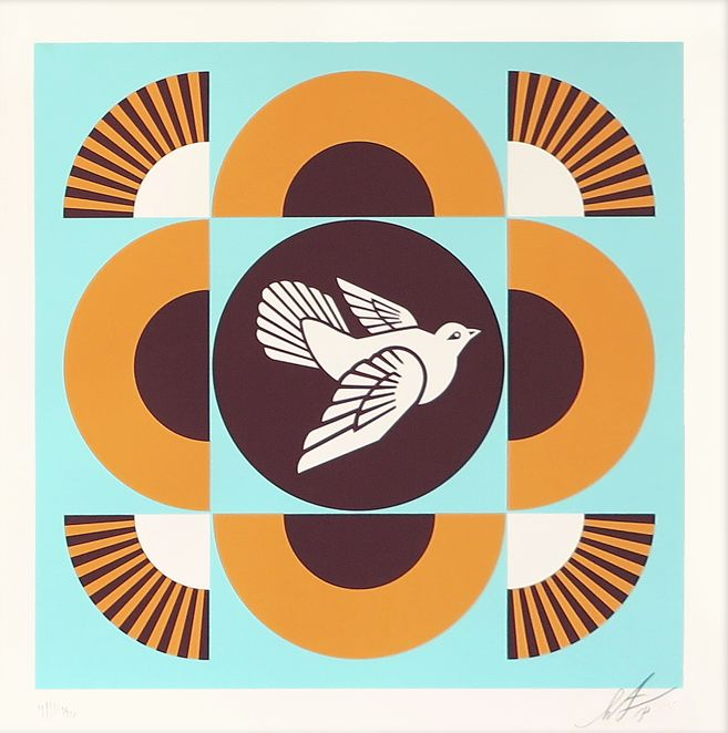 Shepard Fairey (OBEY) - Dove Geometric (Blue)