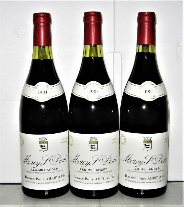 1984 Morey Saint-Denis 1° Cru Les Millandes, Domaine Pierre Amiot - lot 3 bottles