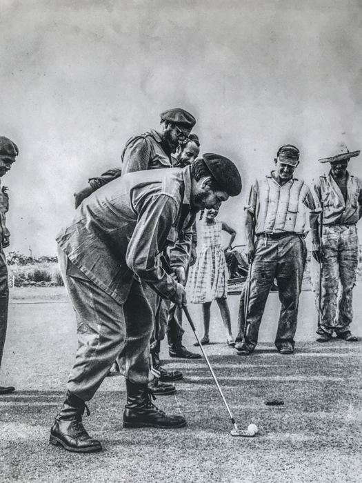 Alberto Korda (1928-2001) - Che Guevara and Castro playing golf, Havana, 1961