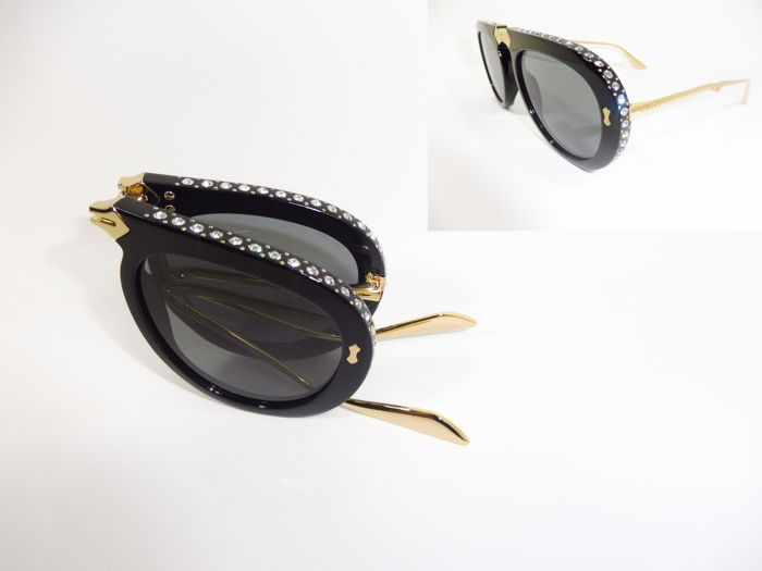 858bc058bd Gucci Oversized - GG 0307S Folding Frame With Crystals Sunglasses ...