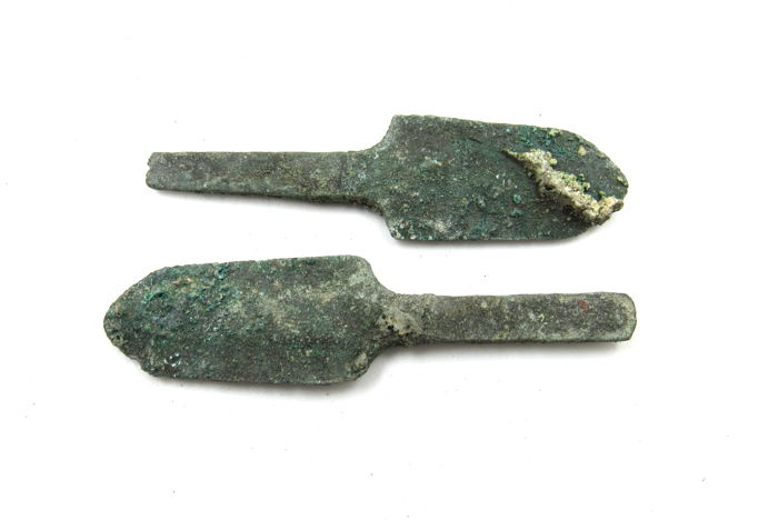 PERFECT LOT of 10 Ancient Greek TOP QUALITY Bronze Arrowheads TOP BC age
