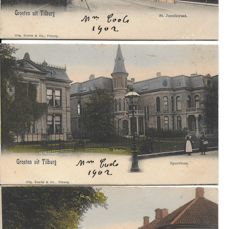 Beautiful lot of old postcards with very lovely cards from Tilburg uncirculated) period c. 1900