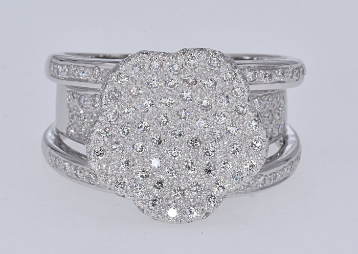 18 karaat Witgoud - Ring - 2.05 ct Diamant