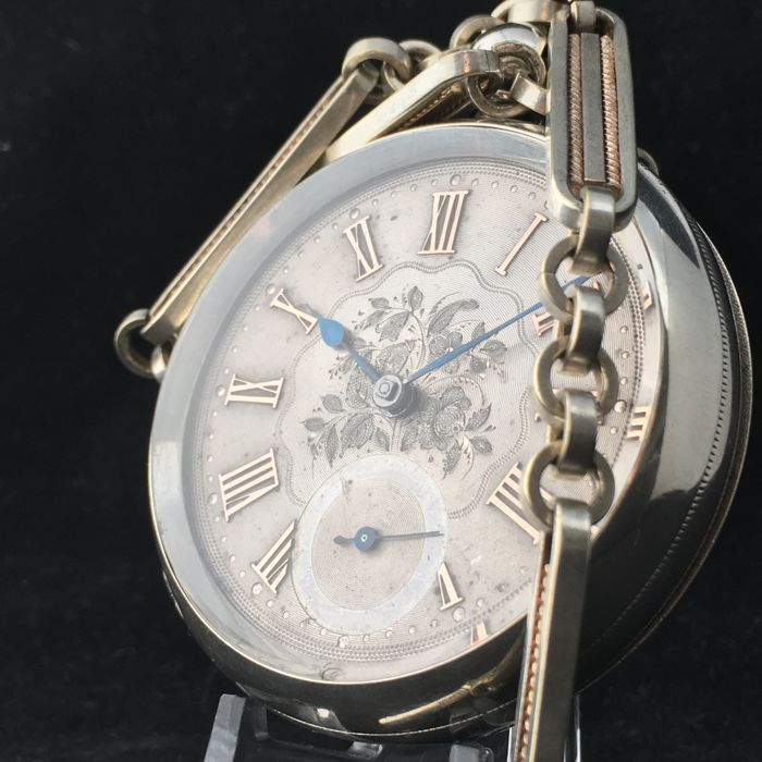 Thomas Russell & Son - Large silver dial Pocket watch - Miehet - 1897
