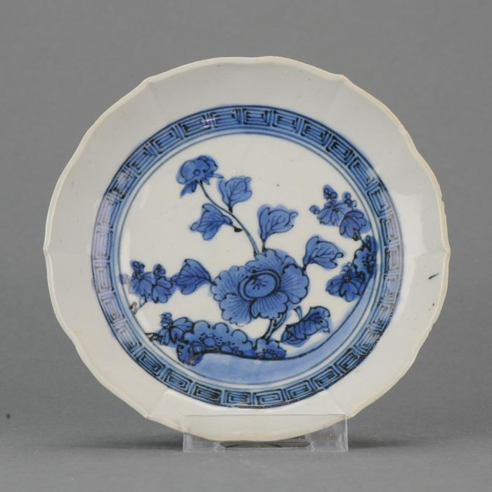 Stunning Arita Sometsuke Plate Fuku Mark - Japan - 18th century (Edo period)