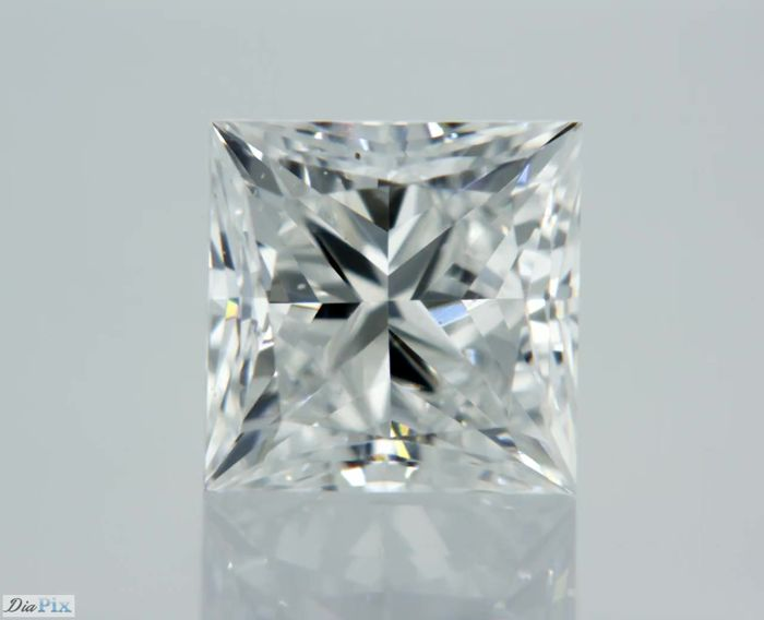 1 Diamond - 0.7 ct - Princess - E - VS2