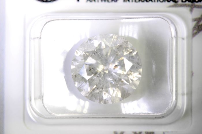 AIG Antwerp Diamant - 5.69 ct - Color : G , Clarity :I2 - Excellent Cut