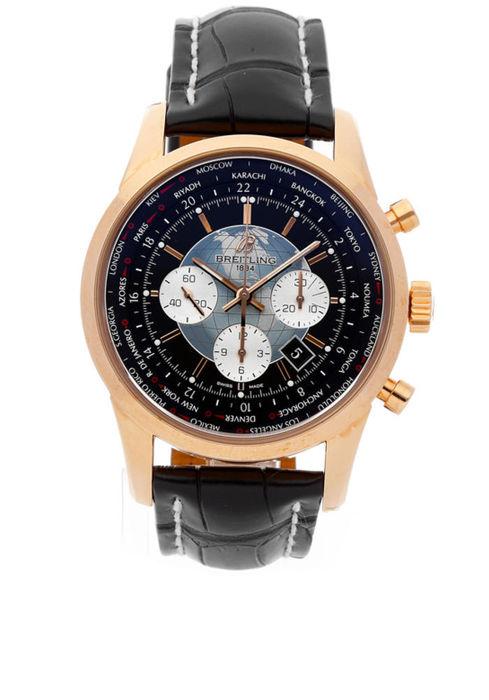 Breitling - Transocean Chronograph Unitime 18kt Pink Gold - RB0510U4/BB63 - Homme - 2020