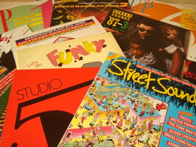 Collection of 15 Great Funk & Disco Samplers II Compilations with the best funk & disco from the 70's & 80's