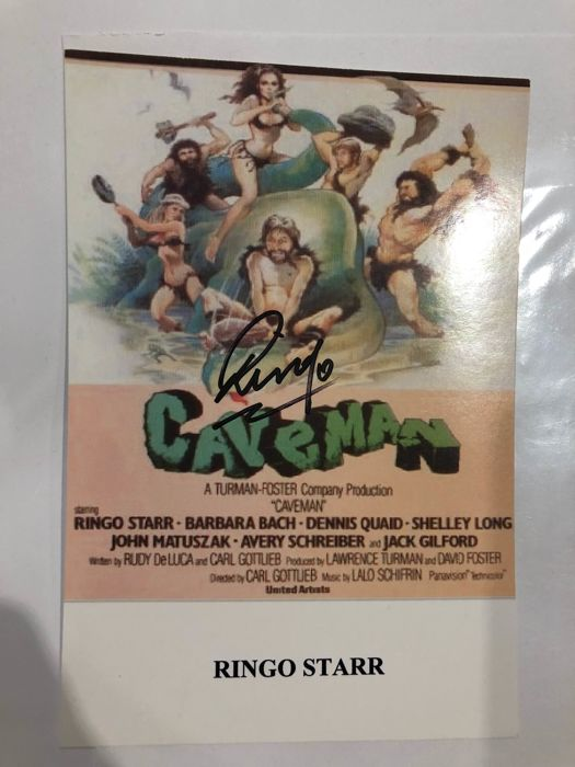 ringo starr of the beatles autograph photo from caveman catawiki
