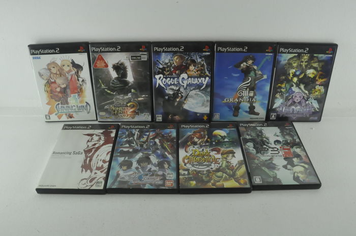 Lot: 9 Japanese Playstation 2 JRPG's w/ Persona 3, Odin Sphere & Monster Hunter