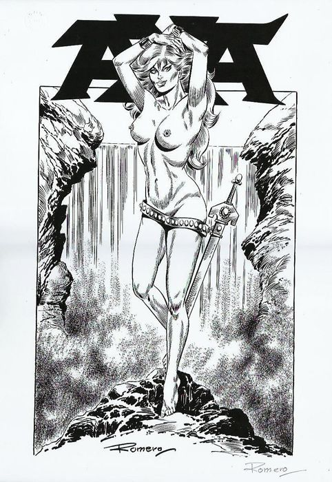 Axa - Original print - Limited Edition - Axa nude - Signed by Romero - First edition