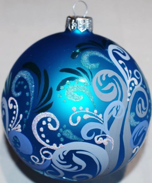 Exclusive Christmas balls. Hand painted. - Set of 100 - Glass (stained glass)