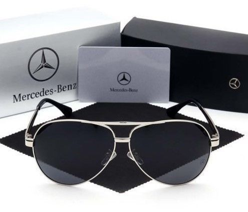 Mercedes zonnebrillen - Men's Mercedes Aviator Designer Sunglasses + Case - 2018 (1 items)