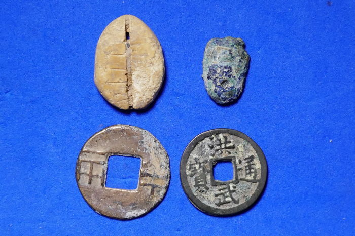 China - Various Ancient Coins (700 BC - 1399 AD), 'Bone money' and