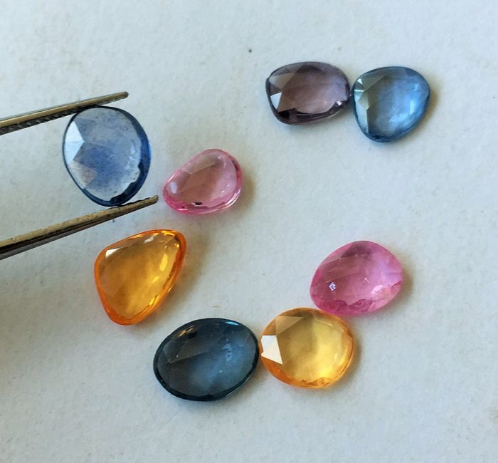 Sapphire 5.17 cts total 8 pieces