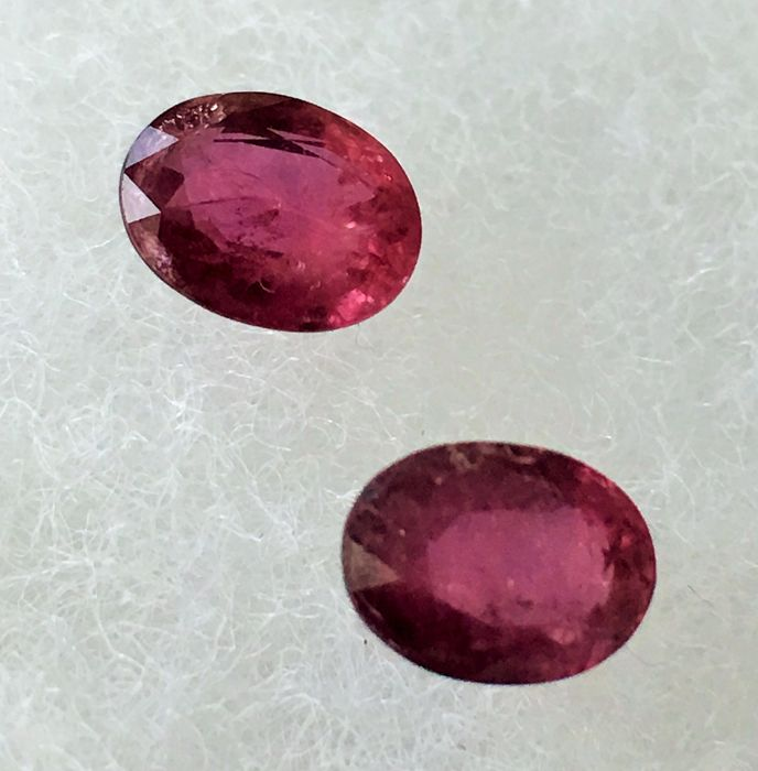 Ruby , 3.21 cts total 2 pieces.