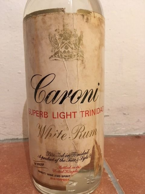 Caroni Superb Light Trinidad White Rum (1960s)