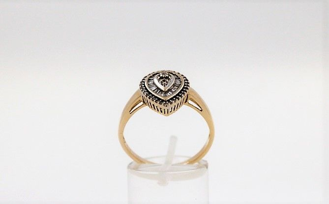 15 kt. Gold - Ring - 1.25 ct Diamond