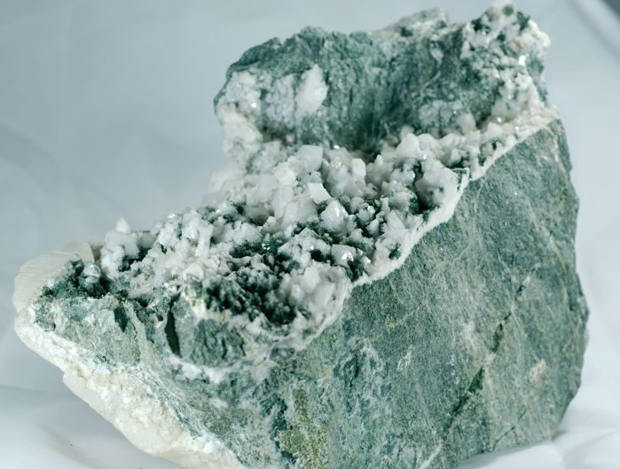 Adularia with Calcite Crystals on matrix - 20x14x11 cm - 3775 g