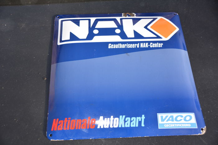 """emaille garagebord - Willems Classics BV """"Nationale Autokaart"""" - 2000 (1 items)"""