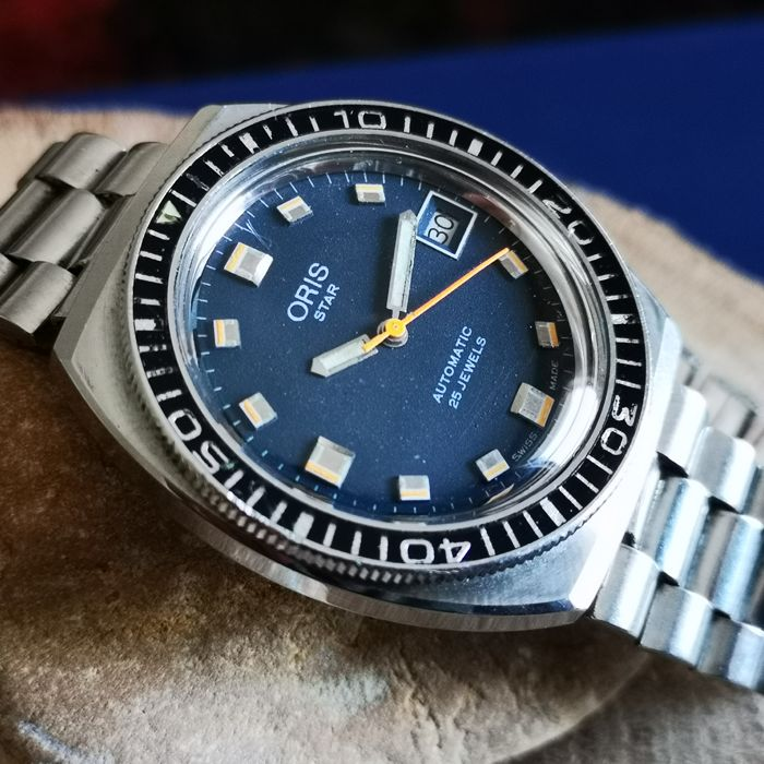 Oris - *STAR* 645 Vintage Diver Automatic w/ Steel Band - Heren - 1970-1979