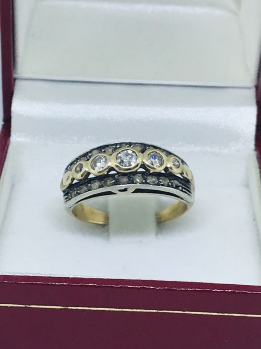 14 kt. Yellow gold - Ring - 0.35 ct Diamond