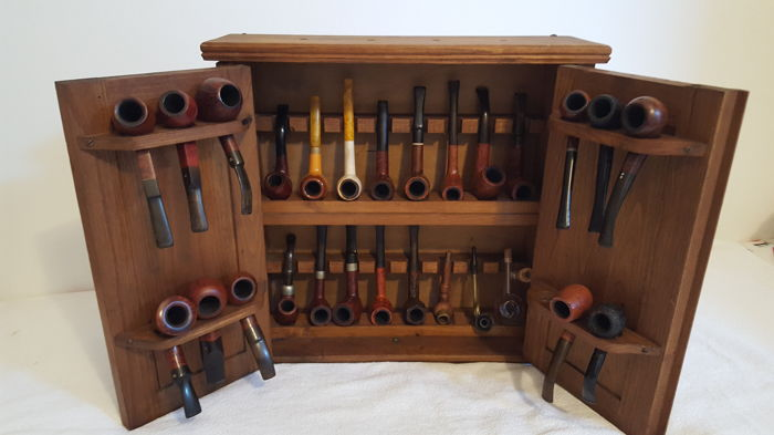 Charmant Pipe Cabinet   Collection Of 27   True Heather