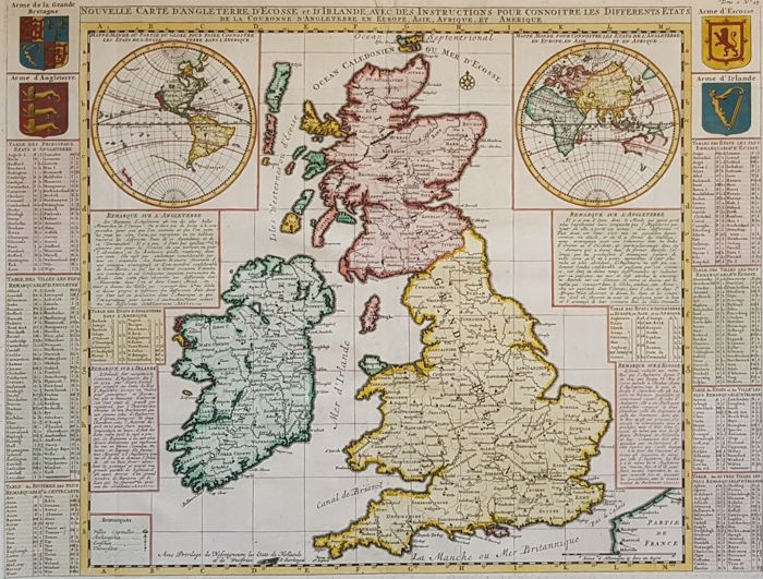 Carte Reading Angleterre.World United Kingdom H A Chatelain Nouvelle Carte D Angleterre D Ecosse Et 1713 Catawiki