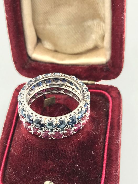 Ring - Gold - Sapphire and Ruby, Sapphire