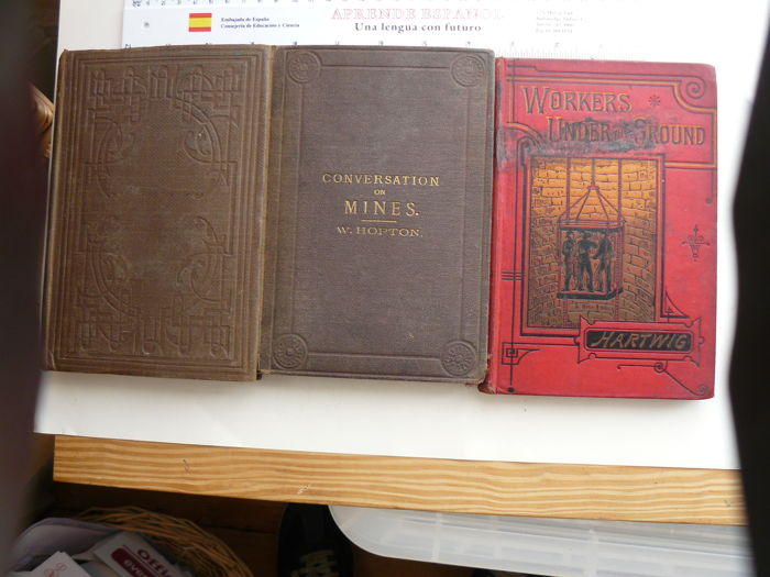 Lot with 3 books on mining - 1861/1888